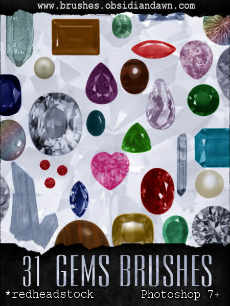 GIMP Gems AND Stones Brushes