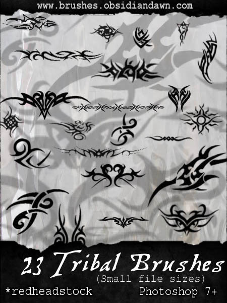 GIMP Tribal-Small Brushes by Project-GimpBC on DeviantArt