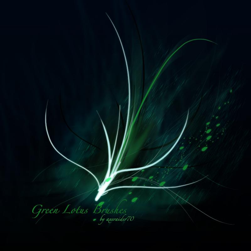 GIMP Green Lotus Brushes