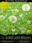GIMP Dandelion Brushes