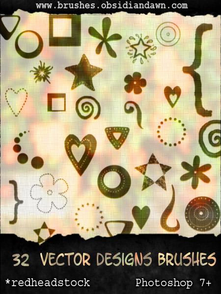 GIMP Vector Designs Brushes