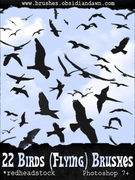 GIMP Flying Birds Brushes