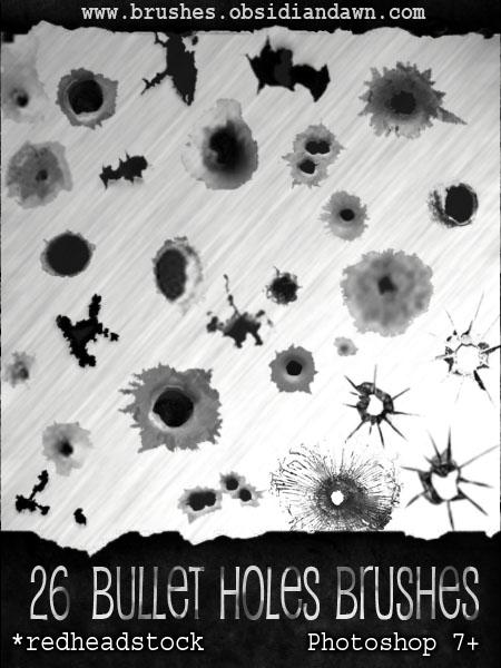 GIMP Bullet Holes Brushes
