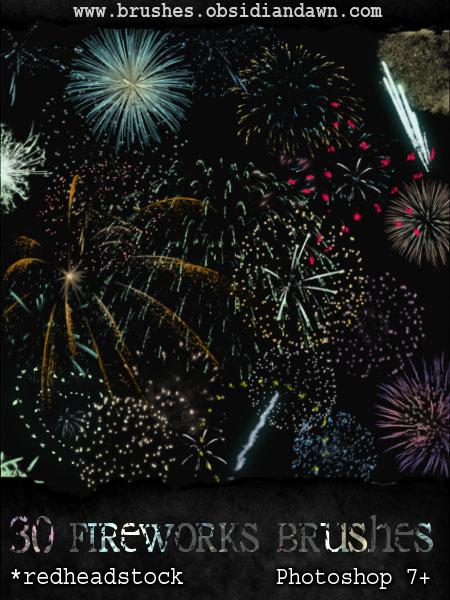 GIMP Fireworks Brushes