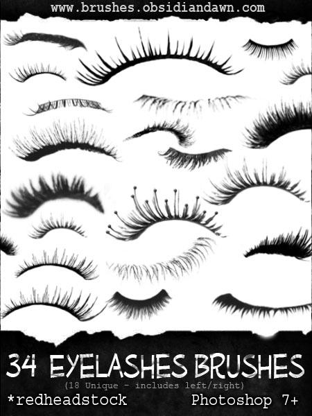 GIMP Eyelashes Brushes