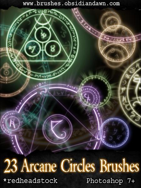 GIMP Arcane Circles Brushes by Project-GimpBC