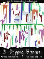 GIMP Dripping Brushes by Project-GimpBC