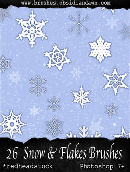 GIMP Snow and Flake Brushes
