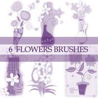 GIMP Flower Brushes