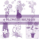 GIMP Flower Brushes