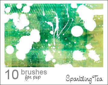 GIMP Splatter Brushes