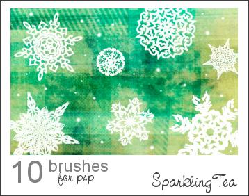 GIMP Snowflake Brushes