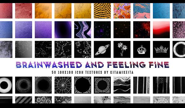 brainwashed and feeling fine - 50 icon textures