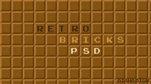 Retro Brick PSD