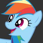 Rainbow Dash Happy Vector