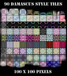 90 Damascus Style Web Tiles by excheesetorpedo