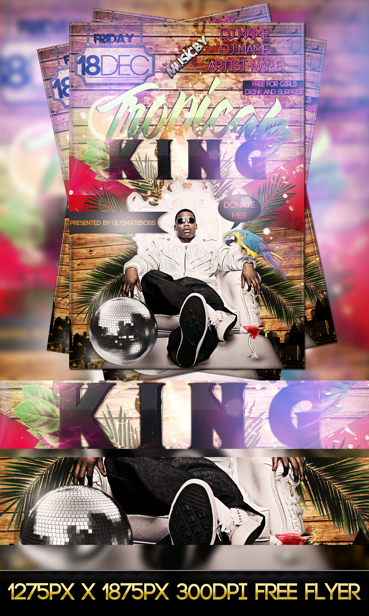 FREE PSD TROPICAL KING FLYER by ultimateboss
