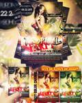 Freemium tropical party flyer