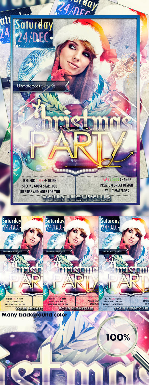 Freemium Christmas party flyer UPDATE V2 by ultimateboss
