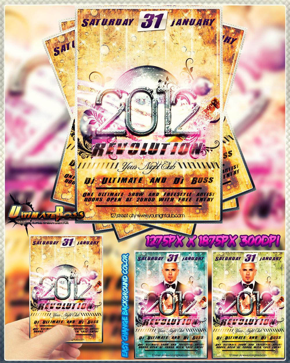 Freemium 2012 Revolution flyer by ultimateboss