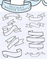 Procreate Banner Stamps by jendeelinn