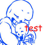 Sans and Papyrus Hug- test