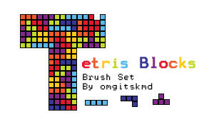 Tetris Block Brushes by omgitskmd