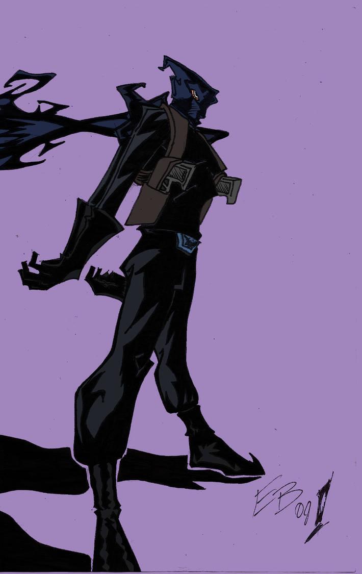 The Black Bat flat colors by urbantrixsta