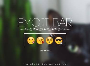 Emoji Bar|xWidget by iRaveKatt