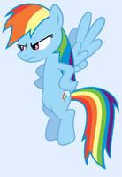 Rainbow Dash angry stare by punchingshark