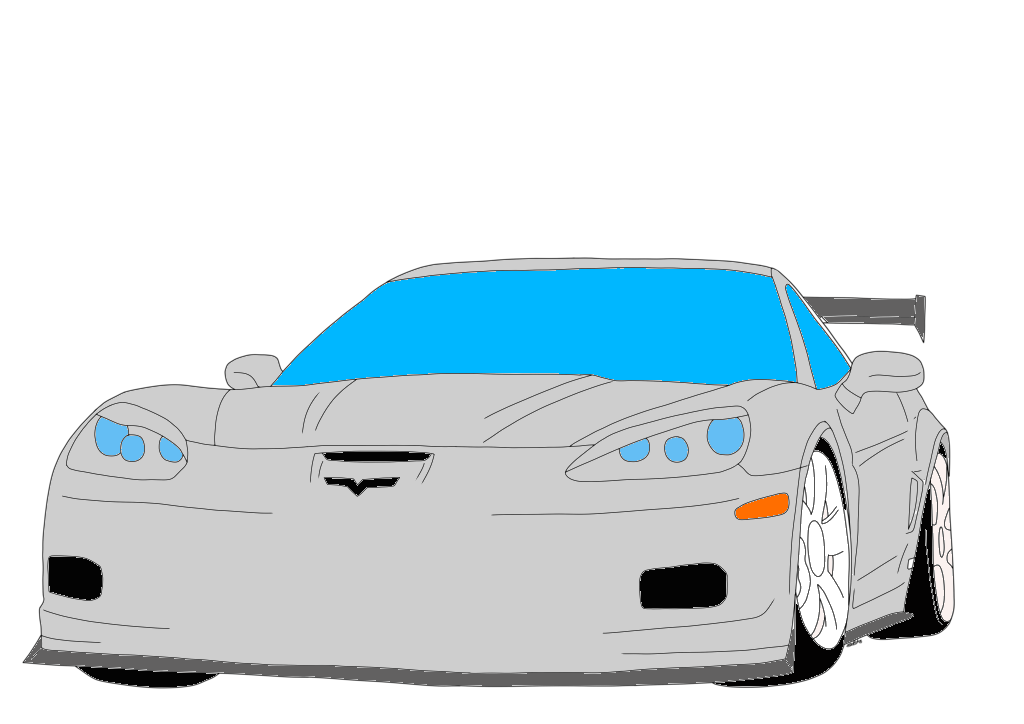 Chevrolet Corvette Colored by LouisEugenioJR