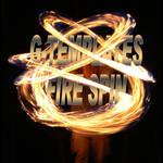 Fire spin text psd template