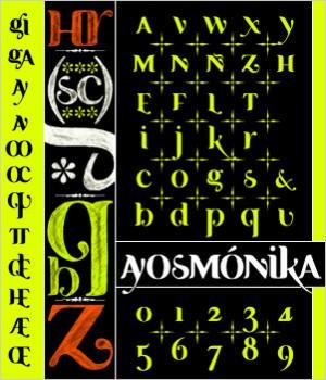 Ayosmonika-Bold by gravemandesign