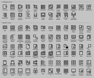 Simple black icons 2018 by blazezone