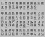 Simple black icons 2018