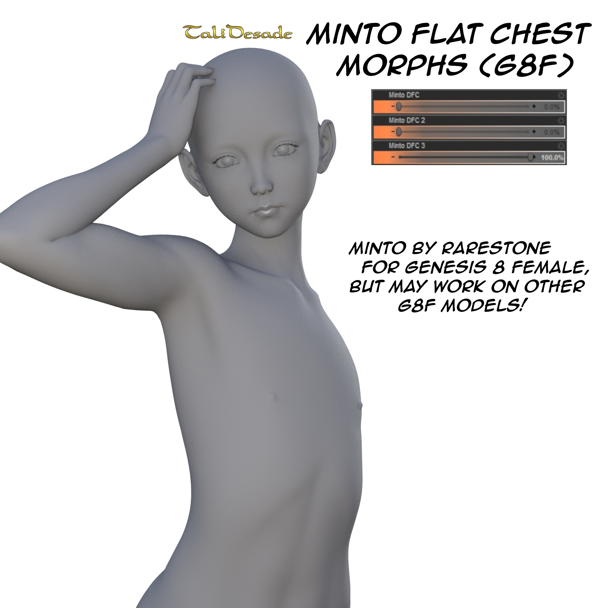 Minto Flat Chest Morphs by TaliDesade on DeviantArt
