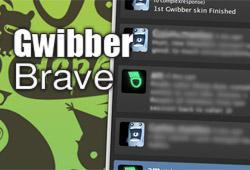 Gwibber Brave 0.1
