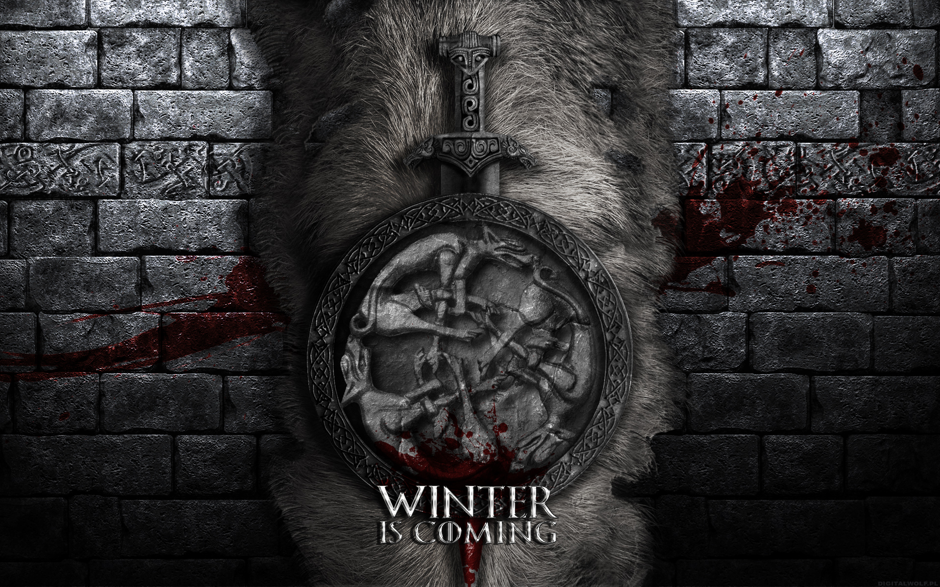 Game of Thrones Wallpaper - House Stark by digitalwolf-pl ...