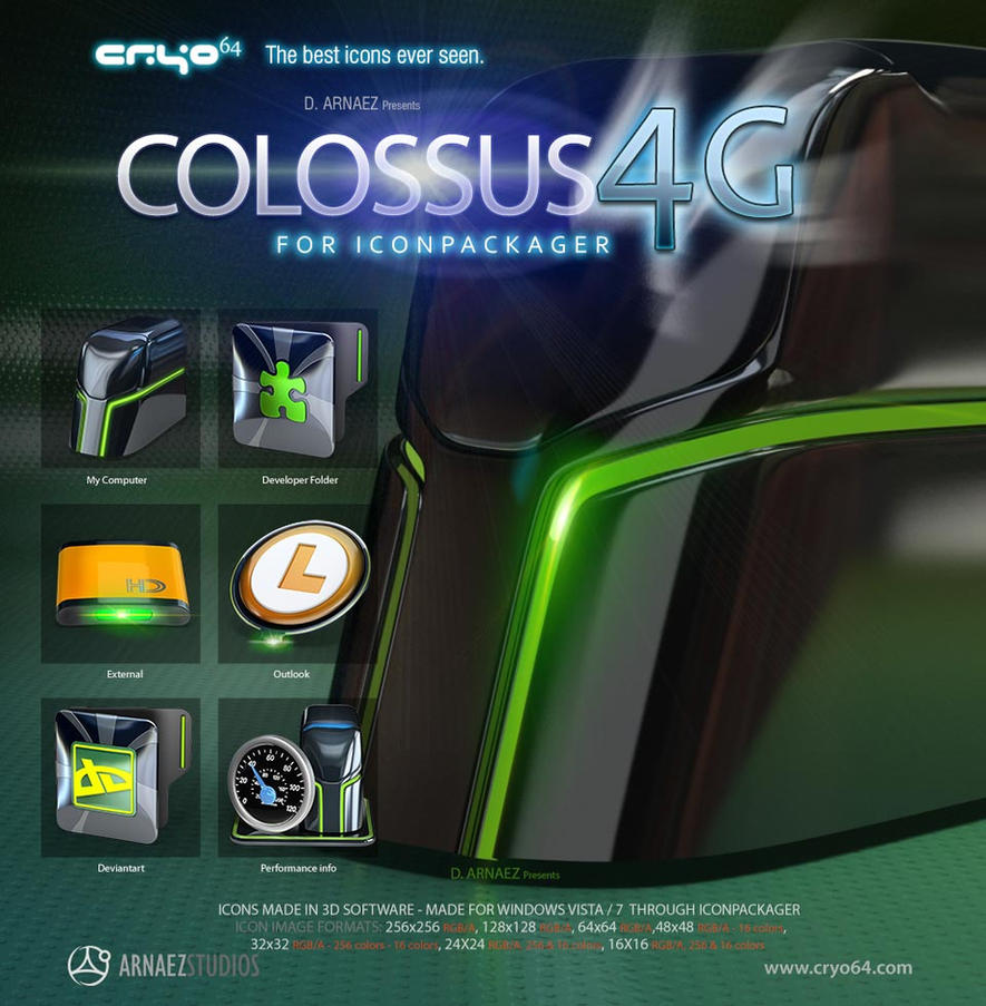 Colossus 4G Iconpackager theme by DARIMAN