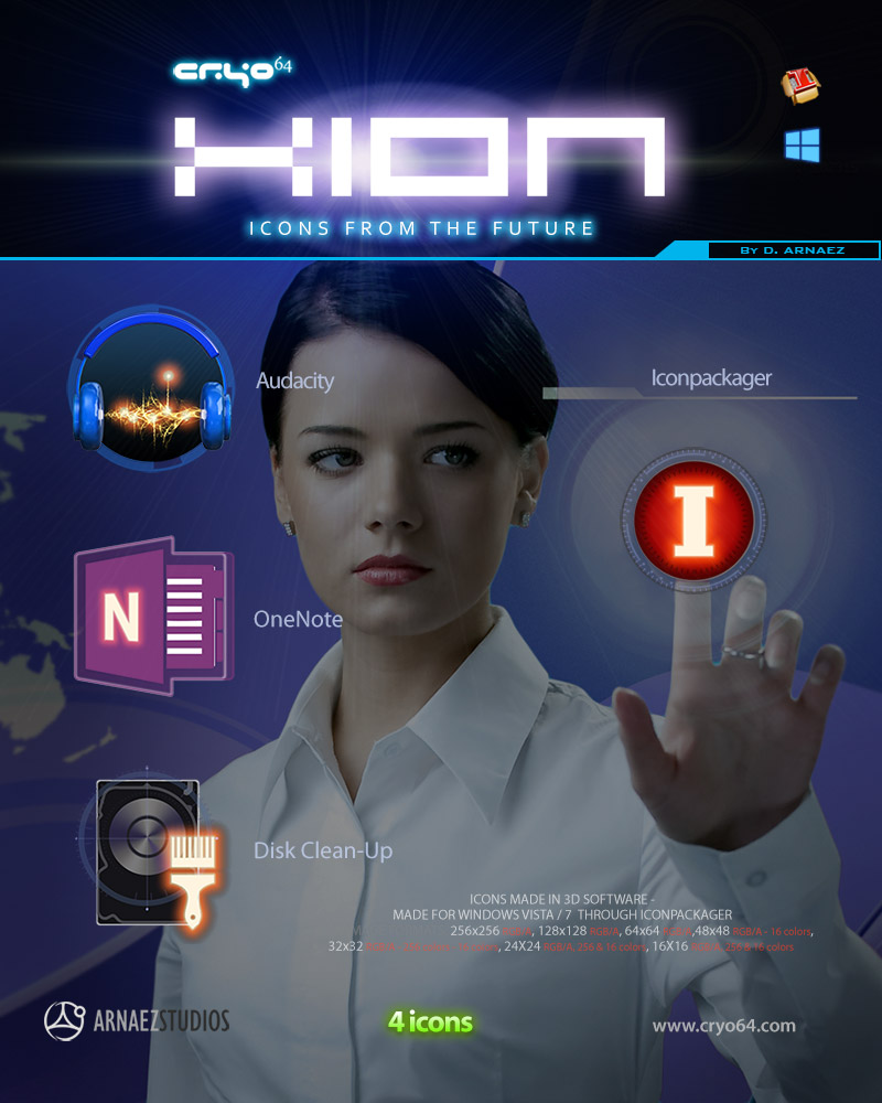 XION - Futuristic Icons by DARIMAN
