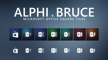 AlphiBruce Office-icons