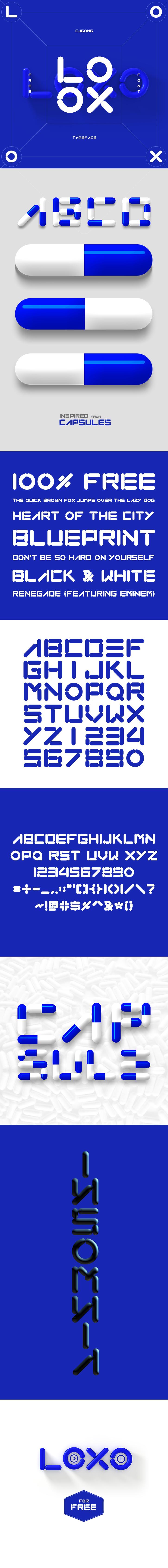 LOXO (free font) by onejian