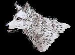 Pixel Wolf Bust - F2U