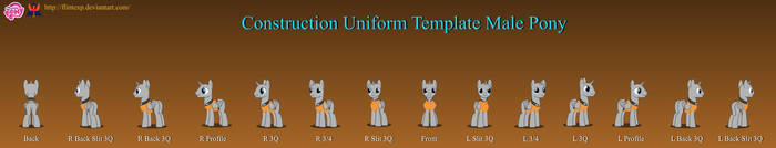 Construction Uniform Template Male Pony v2.7