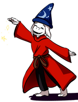 Sorcerer Asriel by hella-K
