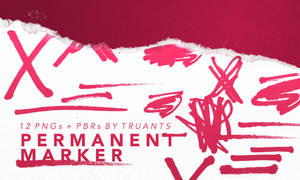 permanent marker : png pack + pixlr brushes