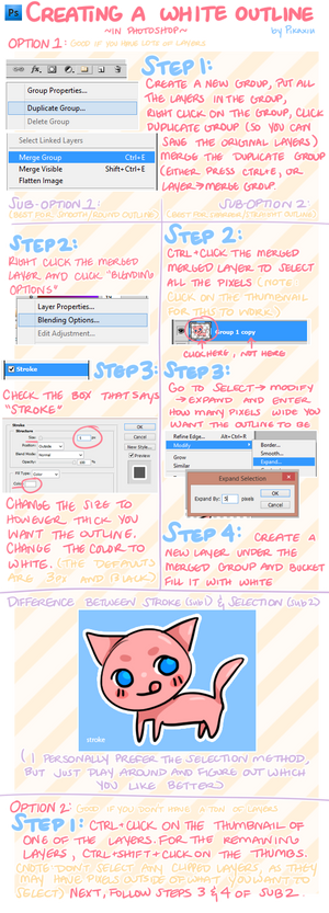 Creating a White Outline: Photoshop