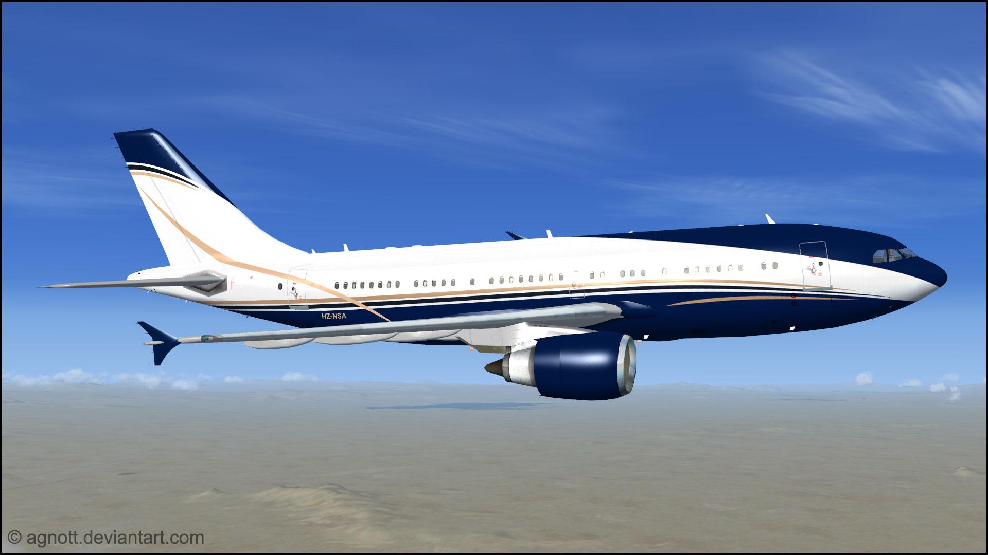 A310-300 VVIP 'HZ-NSA' Repaint by agnott on DeviantArt
