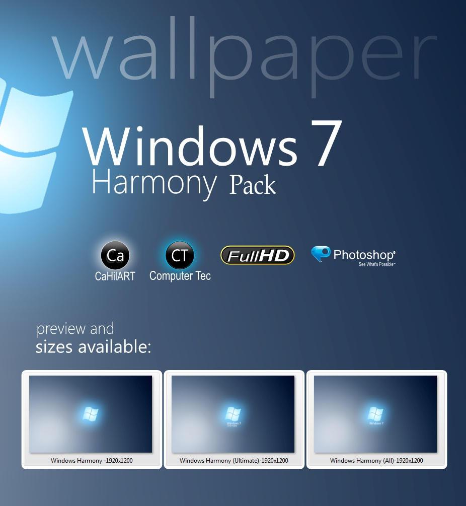windows 7 harmony packcahilart on deviantart
