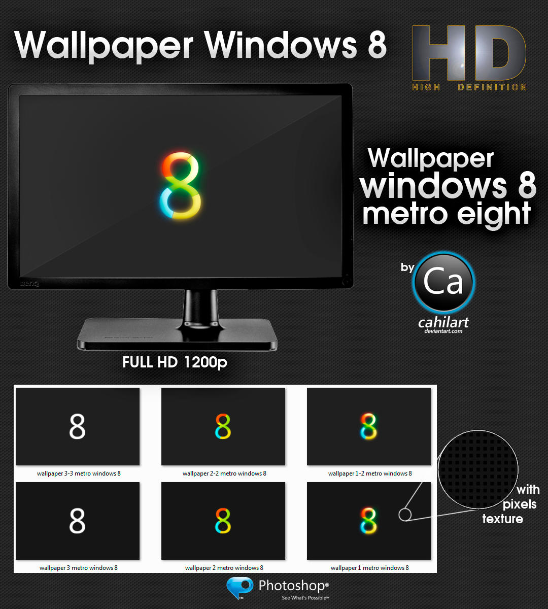 Wallpaper Windows Metro 8 by CaHilART